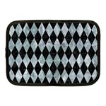 DIAMOND1 BLACK MARBLE & ICE CRYSTALS Netbook Case (Medium)