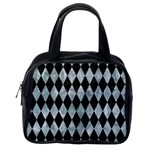 DIAMOND1 BLACK MARBLE & ICE CRYSTALS Classic Handbags (One Side)