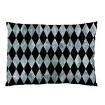 DIAMOND1 BLACK MARBLE & ICE CRYSTALS Pillow Case