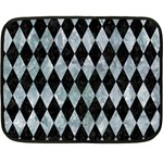 DIAMOND1 BLACK MARBLE & ICE CRYSTALS Fleece Blanket (Mini)