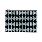 DIAMOND1 BLACK MARBLE & ICE CRYSTALS Cosmetic Bag (Large)