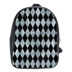 DIAMOND1 BLACK MARBLE & ICE CRYSTALS School Bag (Large)