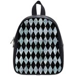 DIAMOND1 BLACK MARBLE & ICE CRYSTALS School Bag (Small)