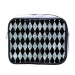 DIAMOND1 BLACK MARBLE & ICE CRYSTALS Mini Toiletries Bags