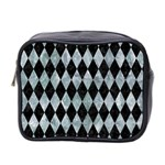 DIAMOND1 BLACK MARBLE & ICE CRYSTALS Mini Toiletries Bag 2-Side