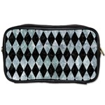 DIAMOND1 BLACK MARBLE & ICE CRYSTALS Toiletries Bags 2-Side