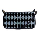 DIAMOND1 BLACK MARBLE & ICE CRYSTALS Shoulder Clutch Bags