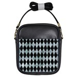 DIAMOND1 BLACK MARBLE & ICE CRYSTALS Girls Sling Bags