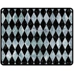 DIAMOND1 BLACK MARBLE & ICE CRYSTALS Fleece Blanket (Medium)