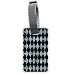 DIAMOND1 BLACK MARBLE & ICE CRYSTALS Luggage Tags (One Side)
