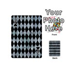 DIAMOND1 BLACK MARBLE & ICE CRYSTALS Playing Cards 54 (Mini)
