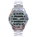 DIAMOND1 BLACK MARBLE & ICE CRYSTALS Stainless Steel Analogue Watch