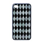 DIAMOND1 BLACK MARBLE & ICE CRYSTALS Apple iPhone 4 Case (Black)