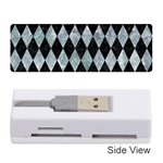 DIAMOND1 BLACK MARBLE & ICE CRYSTALS Memory Card Reader (Stick)