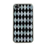 DIAMOND1 BLACK MARBLE & ICE CRYSTALS Apple iPhone 4 Case (Clear)