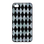 DIAMOND1 BLACK MARBLE & ICE CRYSTALS Apple iPhone 4/4s Seamless Case (Black)