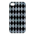 DIAMOND1 BLACK MARBLE & ICE CRYSTALS Apple iPhone 4/4S Premium Hardshell Case