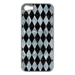 DIAMOND1 BLACK MARBLE & ICE CRYSTALS Apple iPhone 5 Case (Silver)