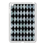 DIAMOND1 BLACK MARBLE & ICE CRYSTALS Apple iPad Mini Case (White)
