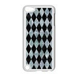DIAMOND1 BLACK MARBLE & ICE CRYSTALS Apple iPod Touch 5 Case (White)