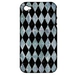 DIAMOND1 BLACK MARBLE & ICE CRYSTALS Apple iPhone 4/4S Hardshell Case (PC+Silicone)