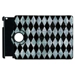DIAMOND1 BLACK MARBLE & ICE CRYSTALS Apple iPad 2 Flip 360 Case