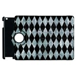 DIAMOND1 BLACK MARBLE & ICE CRYSTALS Apple iPad 3/4 Flip 360 Case