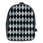 DIAMOND1 BLACK MARBLE & ICE CRYSTALS School Bag (XL)