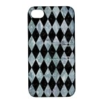 DIAMOND1 BLACK MARBLE & ICE CRYSTALS Apple iPhone 4/4S Hardshell Case with Stand