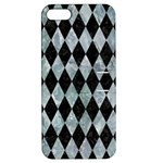 DIAMOND1 BLACK MARBLE & ICE CRYSTALS Apple iPhone 5 Hardshell Case with Stand