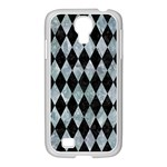 DIAMOND1 BLACK MARBLE & ICE CRYSTALS Samsung GALAXY S4 I9500/ I9505 Case (White)
