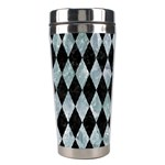 DIAMOND1 BLACK MARBLE & ICE CRYSTALS Stainless Steel Travel Tumblers