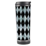 DIAMOND1 BLACK MARBLE & ICE CRYSTALS Travel Tumbler