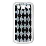 DIAMOND1 BLACK MARBLE & ICE CRYSTALS Samsung Galaxy S3 Back Case (White)