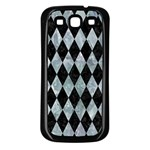 DIAMOND1 BLACK MARBLE & ICE CRYSTALS Samsung Galaxy S3 Back Case (Black)