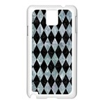 DIAMOND1 BLACK MARBLE & ICE CRYSTALS Samsung Galaxy Note 3 N9005 Case (White)