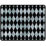 DIAMOND1 BLACK MARBLE & ICE CRYSTALS Double Sided Fleece Blanket (Medium)