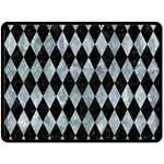 DIAMOND1 BLACK MARBLE & ICE CRYSTALS Double Sided Fleece Blanket (Large)
