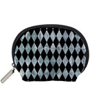 DIAMOND1 BLACK MARBLE & ICE CRYSTALS Accessory Pouches (Small)