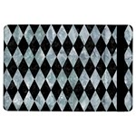 DIAMOND1 BLACK MARBLE & ICE CRYSTALS iPad Air Flip