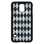 DIAMOND1 BLACK MARBLE & ICE CRYSTALS Samsung Galaxy S5 Case (Black)