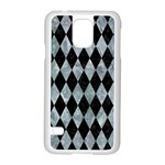 DIAMOND1 BLACK MARBLE & ICE CRYSTALS Samsung Galaxy S5 Case (White)