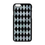 DIAMOND1 BLACK MARBLE & ICE CRYSTALS Apple iPhone 6/6S Black Enamel Case