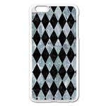 DIAMOND1 BLACK MARBLE & ICE CRYSTALS Apple iPhone 6 Plus/6S Plus Enamel White Case