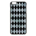 DIAMOND1 BLACK MARBLE & ICE CRYSTALS Apple iPhone 6 Plus/6S Plus Black Enamel Case