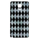 DIAMOND1 BLACK MARBLE & ICE CRYSTALS Galaxy Note 4 Back Case