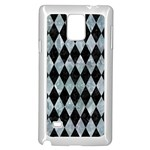 DIAMOND1 BLACK MARBLE & ICE CRYSTALS Samsung Galaxy Note 4 Case (White)