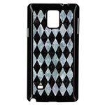 DIAMOND1 BLACK MARBLE & ICE CRYSTALS Samsung Galaxy Note 4 Case (Black)
