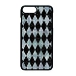DIAMOND1 BLACK MARBLE & ICE CRYSTALS Apple iPhone 7 Plus Seamless Case (Black)