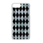 DIAMOND1 BLACK MARBLE & ICE CRYSTALS Apple iPhone 7 Plus Seamless Case (White)